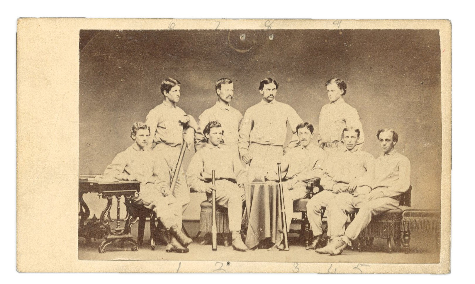 1867 Harvard University Baseball Carte De Visite