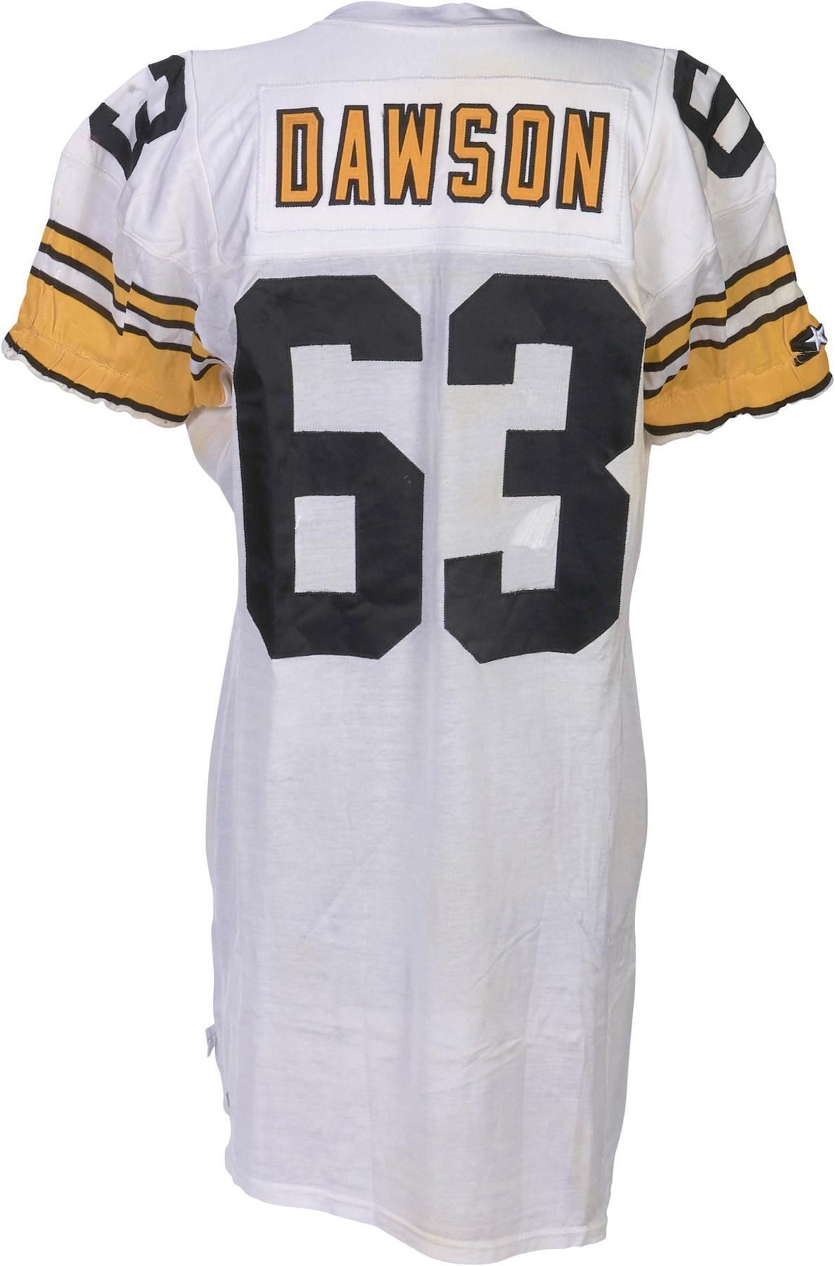 354772d284f 1993 Dermontti Dawson Pittsburgh Steelers Game Worn Jersey (Photo-Matched)