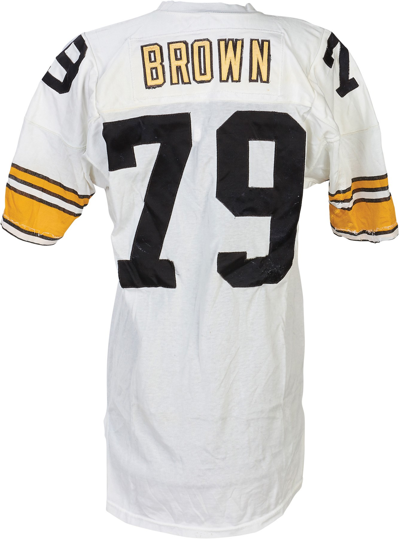 90e5a05d90a 1981 Larry Brown Pittsburgh Steelers Game Worn Jersey