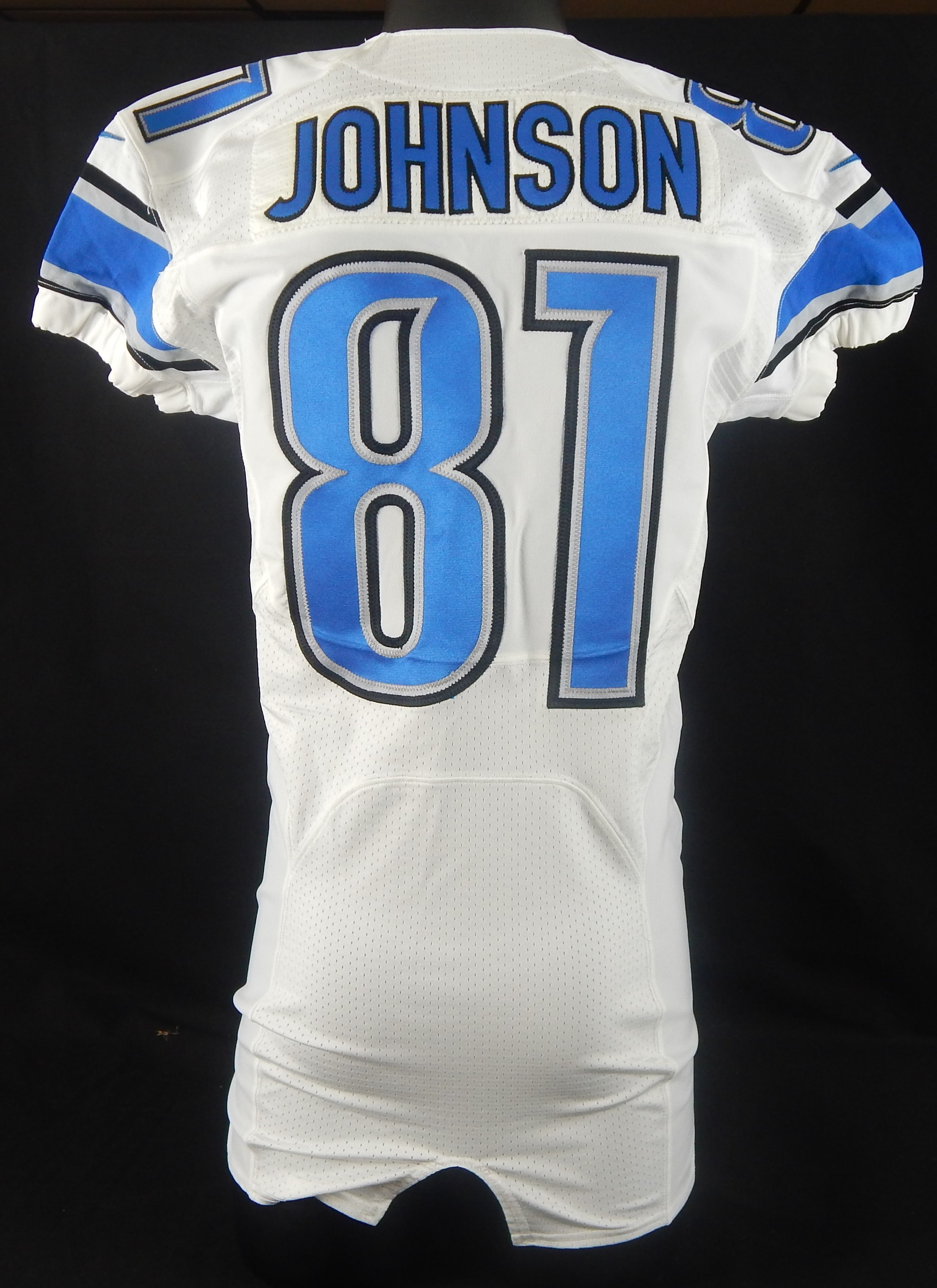 2012 Calvin Johnson Game Issued Lions Jersey - Record Breaking Season 56603ef7a