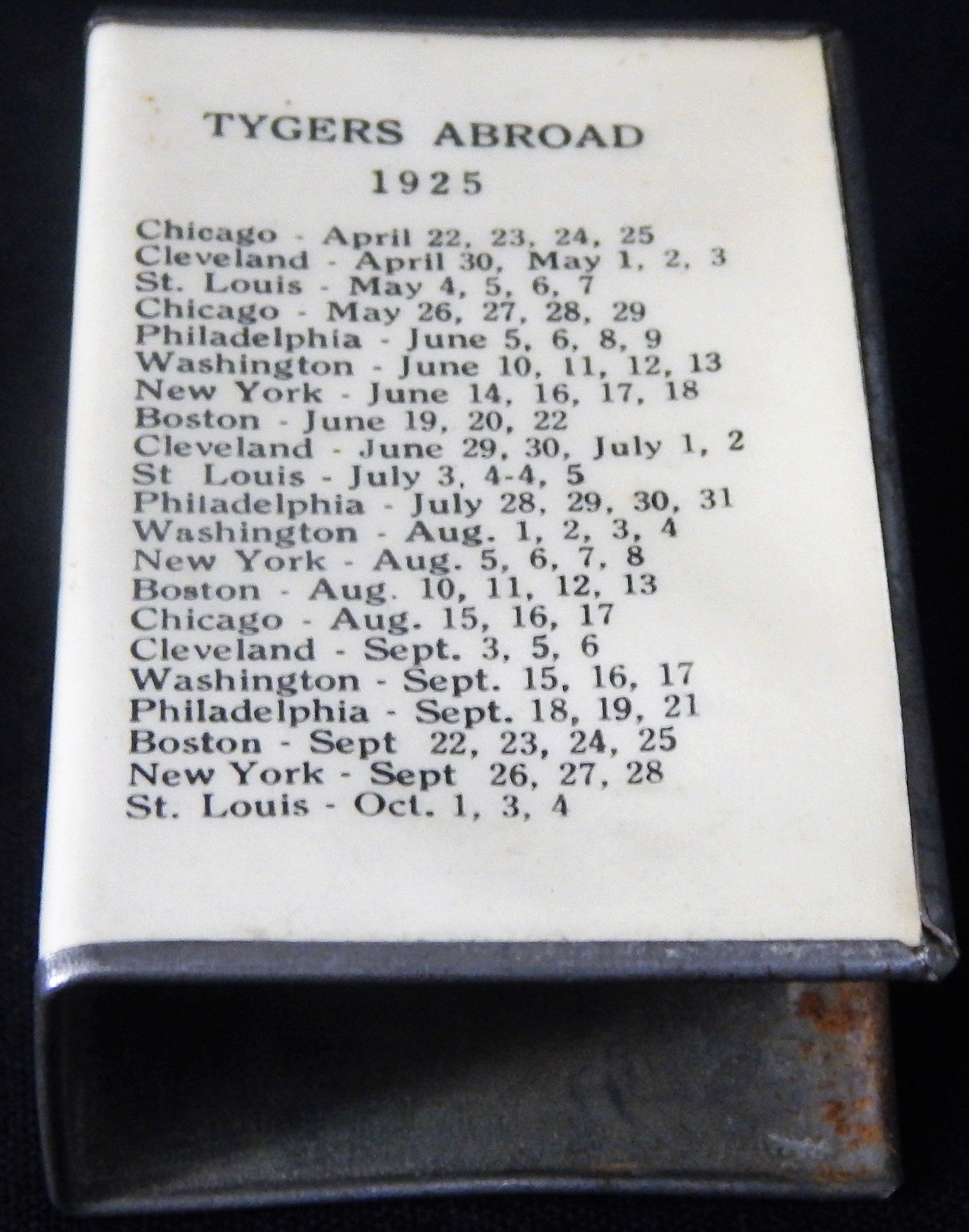 Ty Cobb and Detroit Tigers - Monthly 05-18