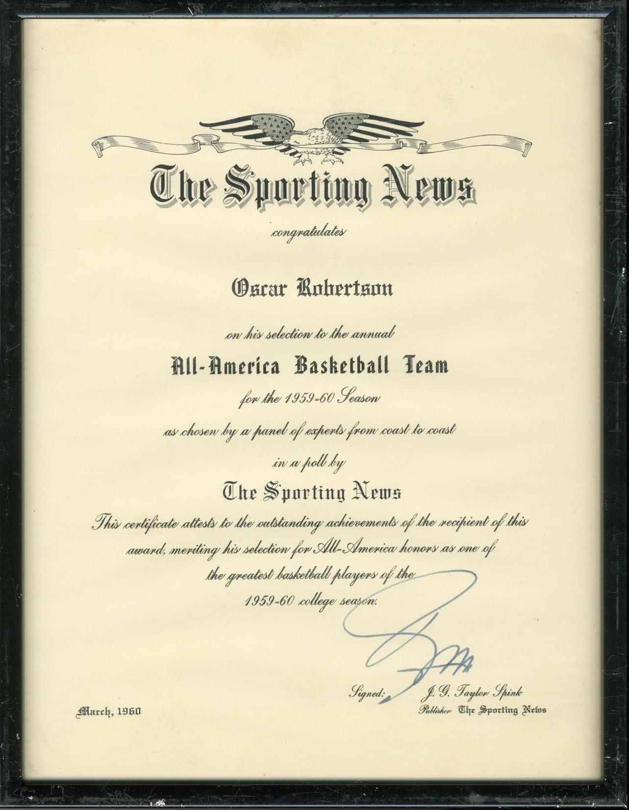 The Oscar Robertson Collection - 2018 Invitational