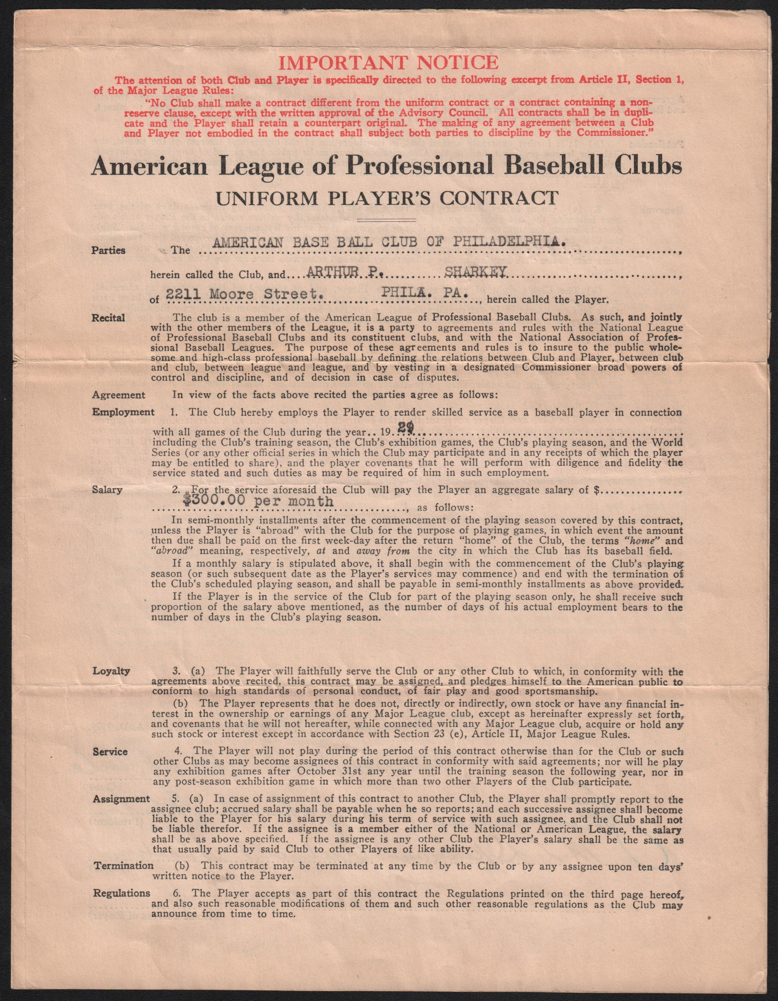 Baseball Autographs - Monthly 06-18