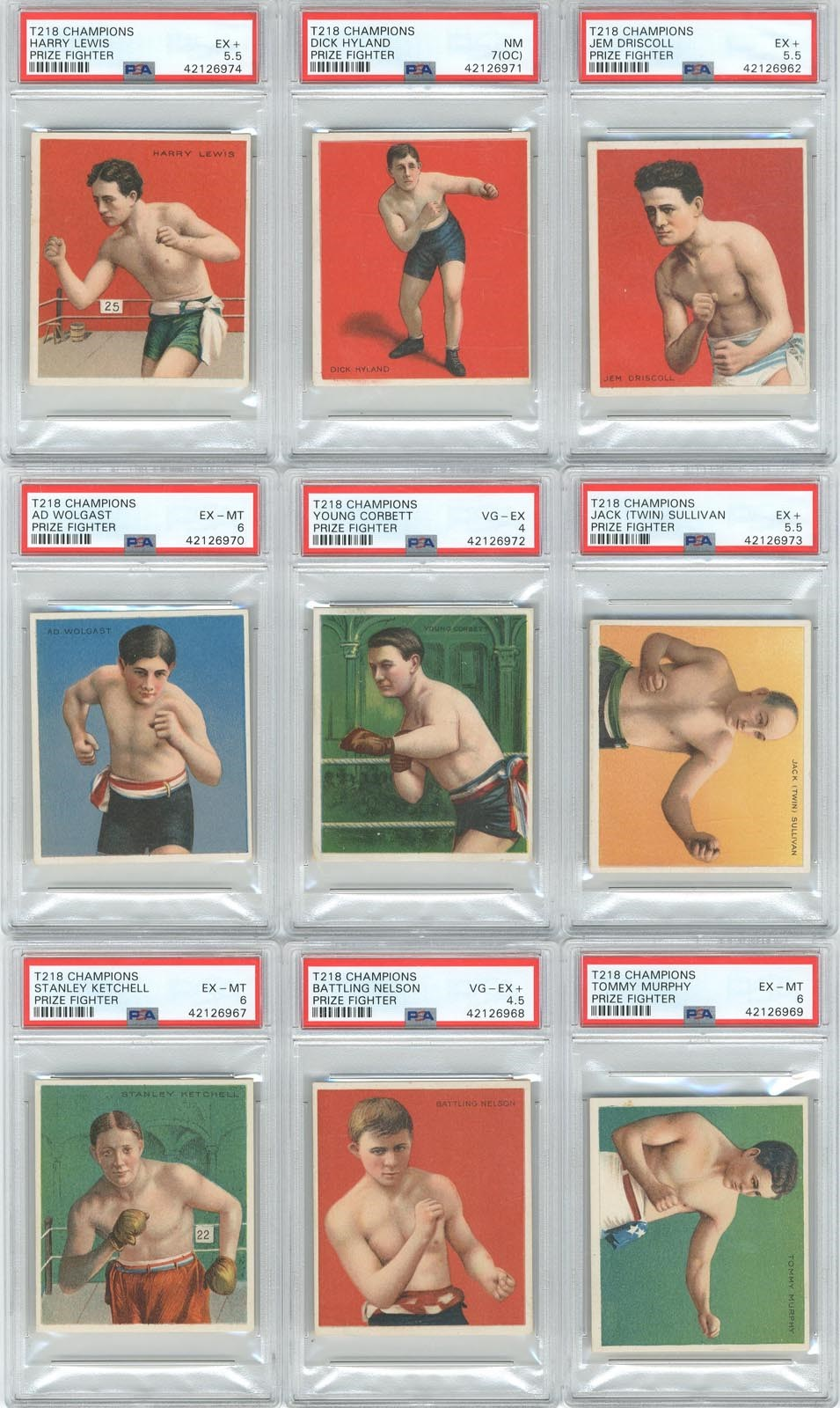Boxing Cards - Monthly 10-18