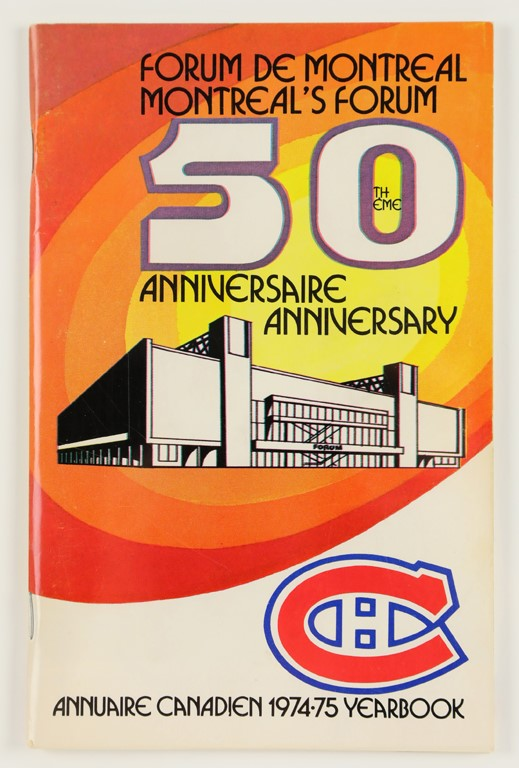 1974-75 Montreal Canadiens Team-Signed Program