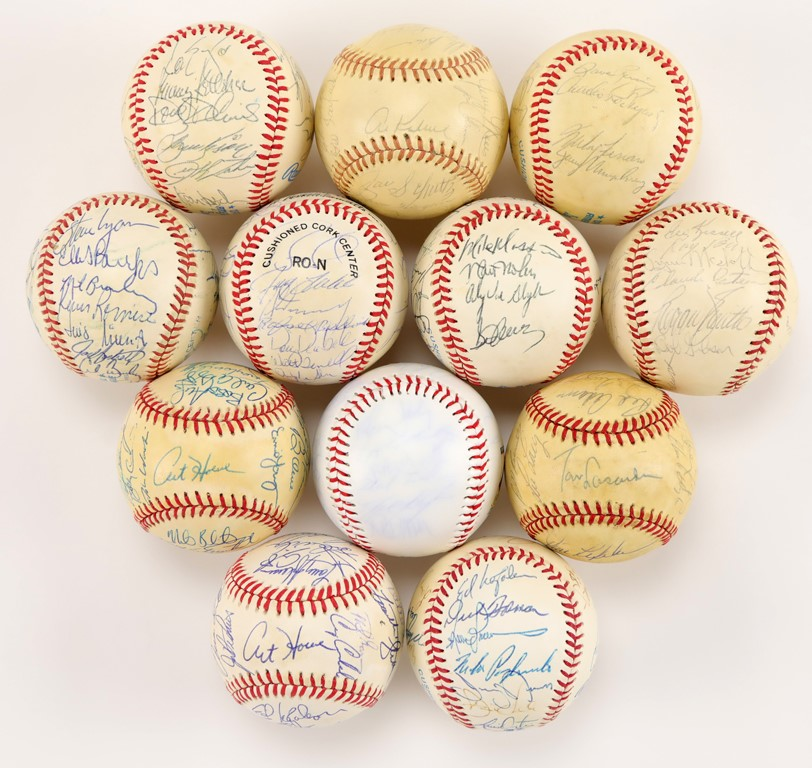 Team and Single Signed Baseball Collection (30+)