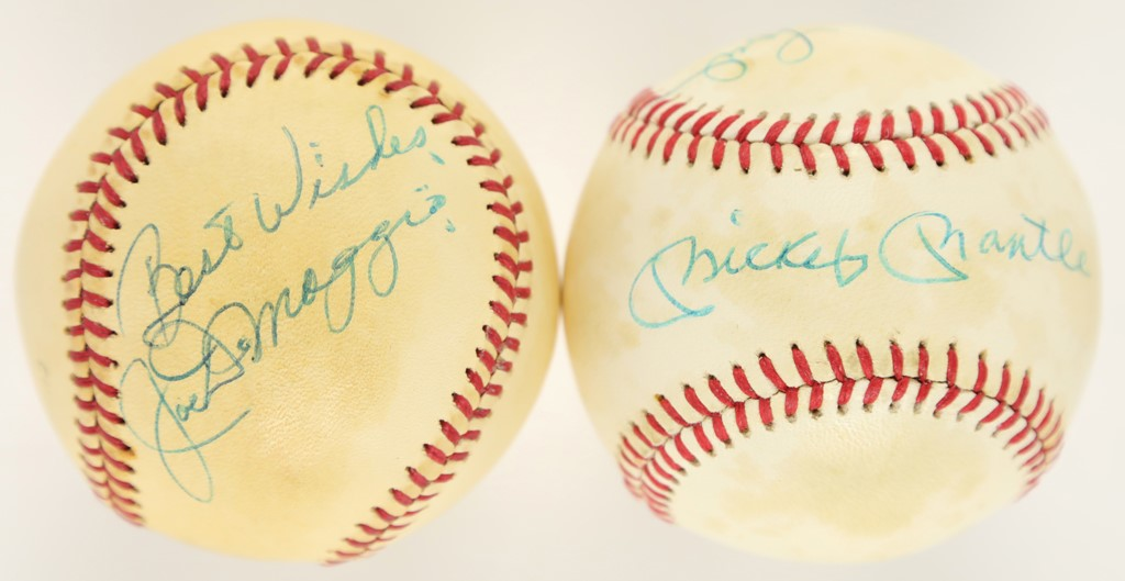 Mantle & Ford and Joe DiMaggio Signed Baseballs