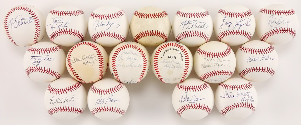 Signed Baseballs from the Dallas Green Collection (16)