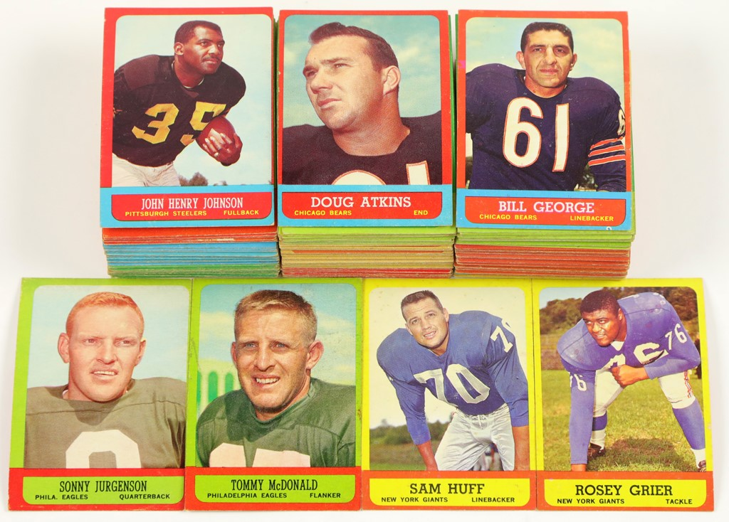 1963 Topps Football Short Print Collection (182)