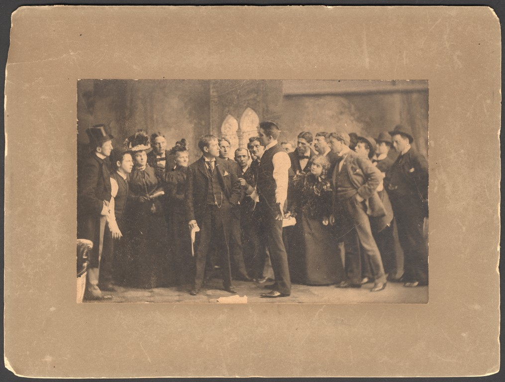 Early 1900s James Corbett On-Stage Mounted Photo