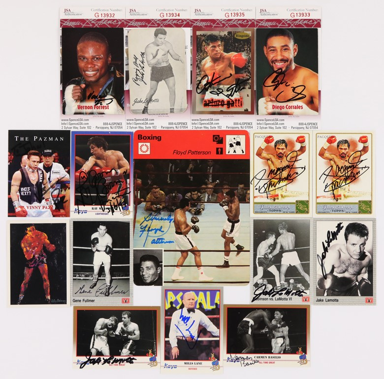 Boxing Signed Card Lot (60)