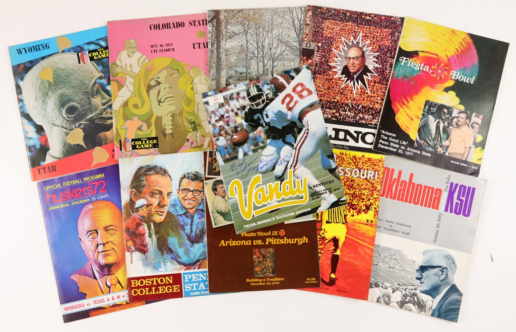 Enormous 1970s College Football Program Accumulation Including Many Important Schools (190+)
