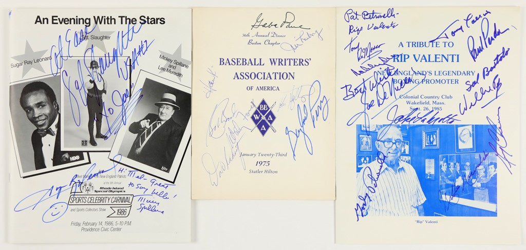 Boston Red Sox & Others Multi-Signed Programs & Publications Collection (13)