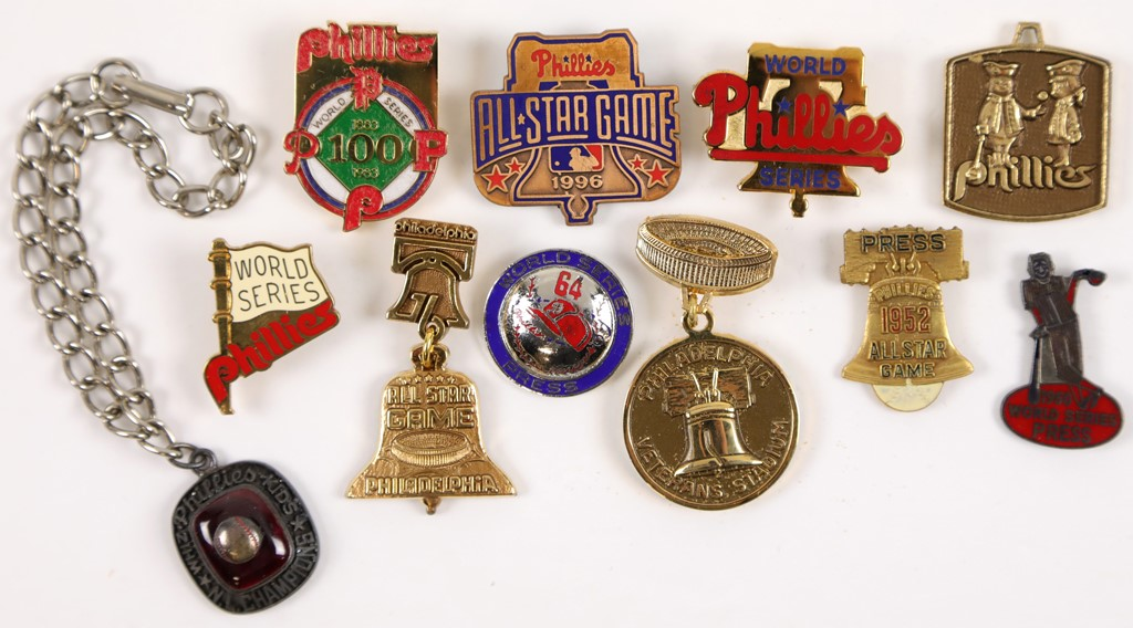 Philadelphia Phillies Press Pin Collection (11)