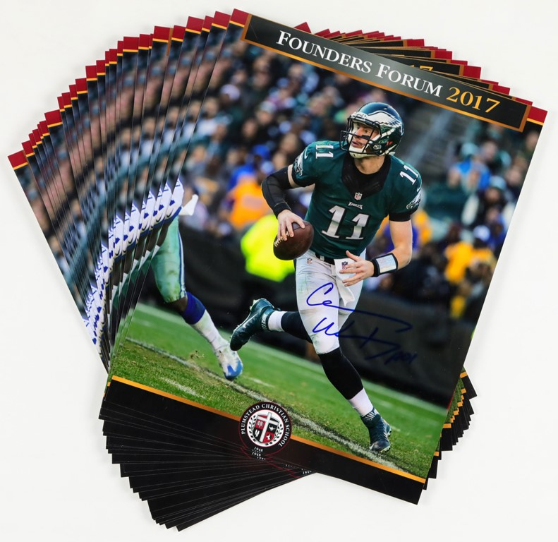 Collection of 2017 Carson Wentz Autographed 8x10 (25)