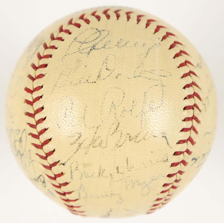 1937 American League All-Stars Signed Baseball with Lou Gehrig