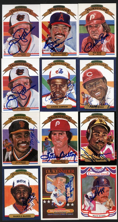 Donruss Diamond Kings Signed Card Collection (62)