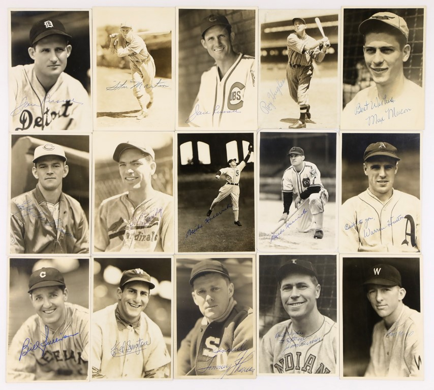 Signed Baseball Photographs by George Burke (15)
