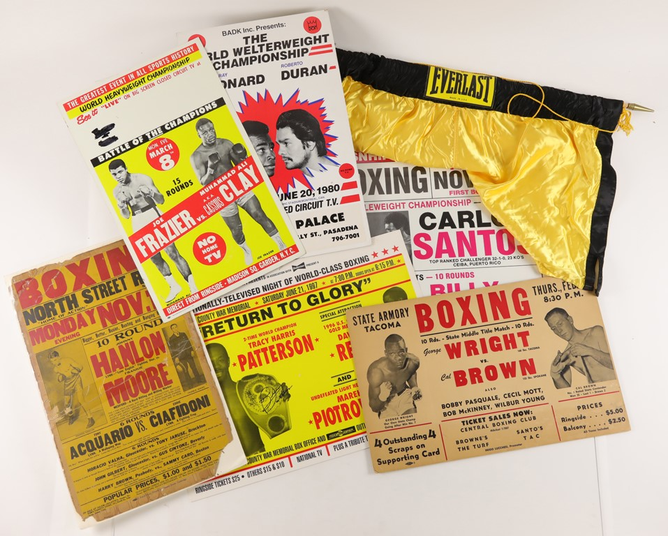 Vintage Boxing Posters Artwork & More Collection