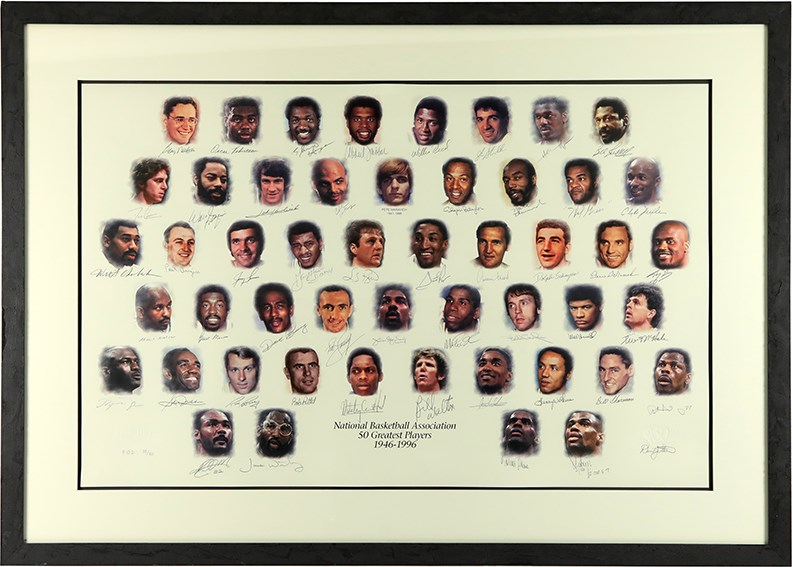1996 NBA 50 Greatest Players Signed Lithograph